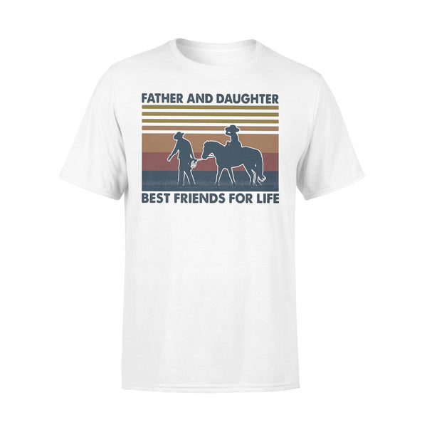 Father And Daughter Best Friends For Life Horse Vintage T-shirt L By AllezyShirt