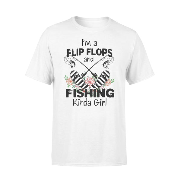 I'm A Flip Flops And Fishing Kinda Girl Shirt L By AllezyShirt