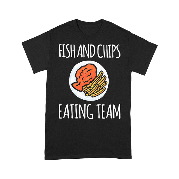 Fish And Chips Eating Team T-shirt S By AllezyShirt