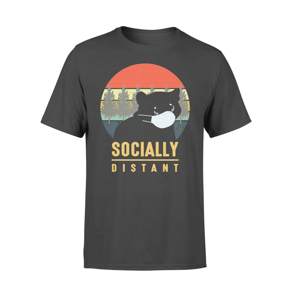 Socially Distant Bear Mask Vintage T-shirt L By AllezyShirt