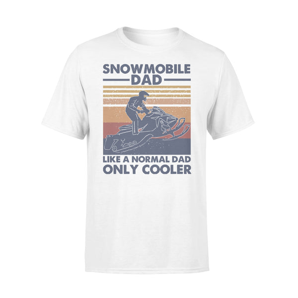 Snowmobile Dad Like A Normal Dad Only Cooler Vintage T-shirt L By AllezyShirt