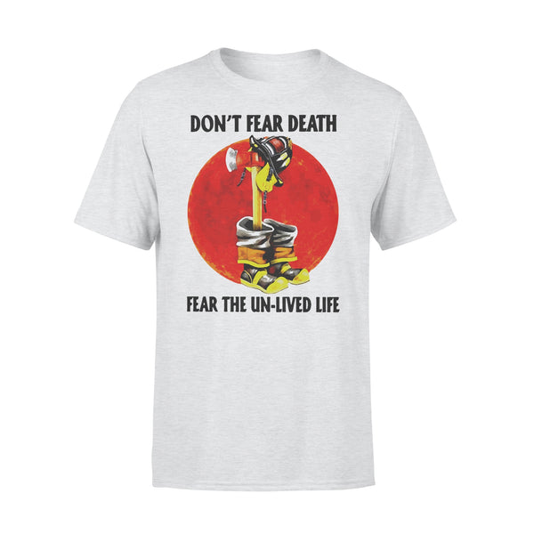 Firefighter Don't Fear Death Fear The Un-lived Life Blood Moon T-shirt XL By AllezyShirt