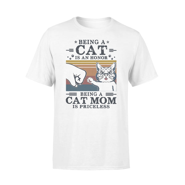 Being A Cat Is An Honor Being A Cat Mom Is Priceless Vintage Retro T-shirt L By AllezyShirt