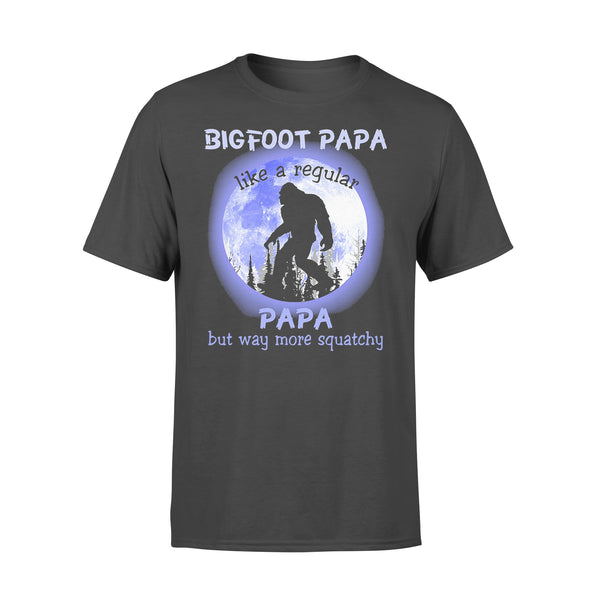 Bigfoot Papa Like A Regular Papa But Way More Squatchy Moonlight T-shirt L By AllezyShirt