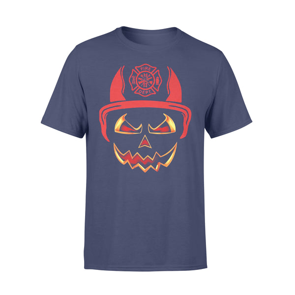 Happy Halloween Skull Firefighter T-shirt XL By AllezyShirt