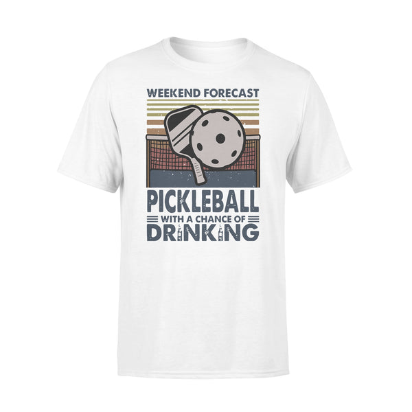 Weekend Forecast Pickleball With Aa Chance Of Drinking Vintage T-shirt L By AllezyShirt