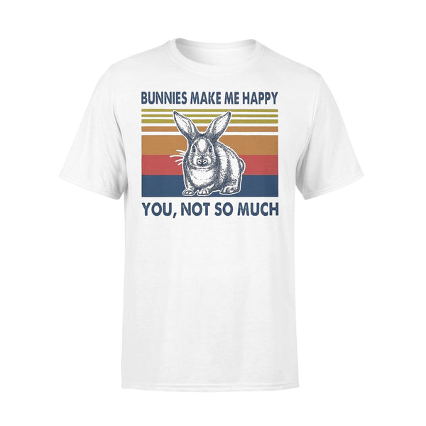 Bunnies Make Me Happy You Not Much Vintage T-shirt L By AllezyShirt