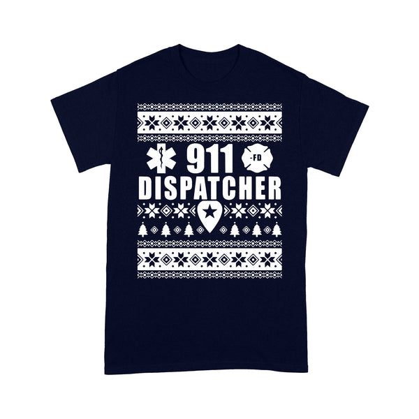 911 Dispatcher Ugly Christmas T-shirt M By AllezyShirt