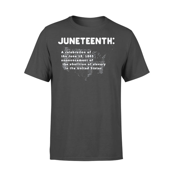 Juneteenth A Celebration Of The June 19 1865 Announcement Of The Abolition Of Slavery In The United States Map T-shirt L By AllezyShirt