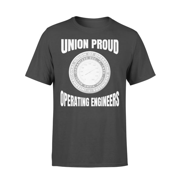 Union Proud Labor Omnia Vincit Organized Dec.7.1896 Operating Engineers T-shirt L By AllezyShirt