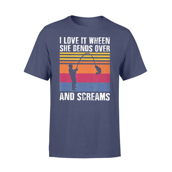 I Love It When She Bends Over And Screams Fishing Vintage T-shirt XL By AllezyShirt