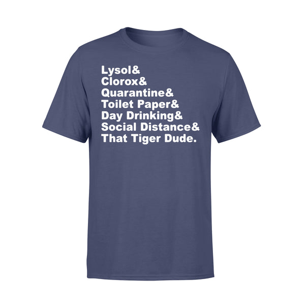 Lysol Clorox Quarantine Toilet Paper Day Drinking T-shirt XL By AllezyShirt