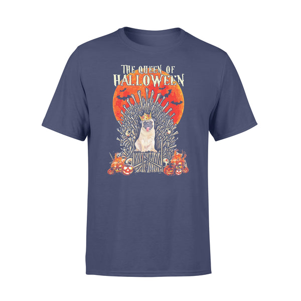 Pug Dog The Queen Of Halloween Blood Moon T-shirt XL By AllezyShirt