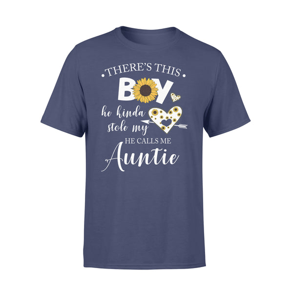 There's This Boy He Kinda Stole My Heart He Calls Me Auntie Sunflower T-shirt XL By AllezyShirt