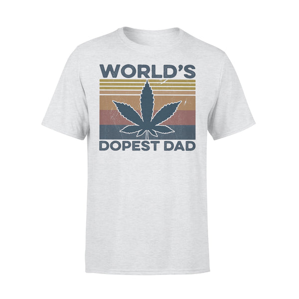 Weed World'S Dopest Dad Vintage T-shirt XL By AllezyShirt