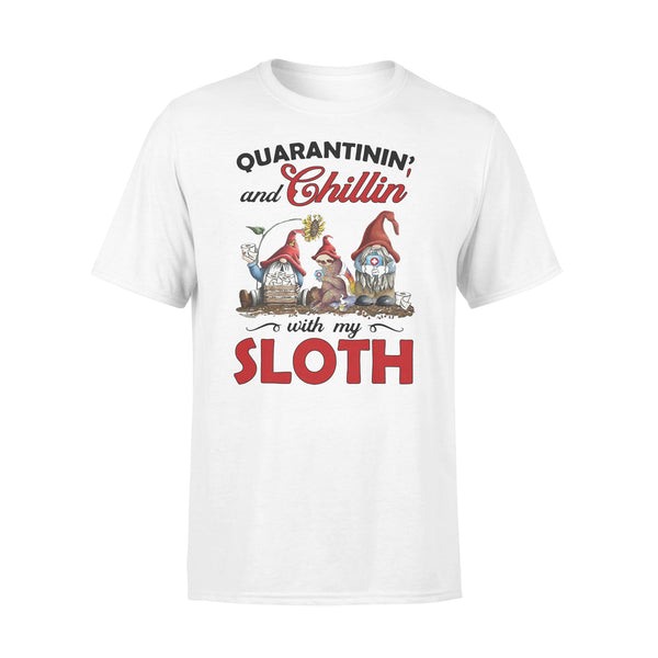 Quarantinin' And Chillin' With My Sloth T-Shirt L By AllezyShirt