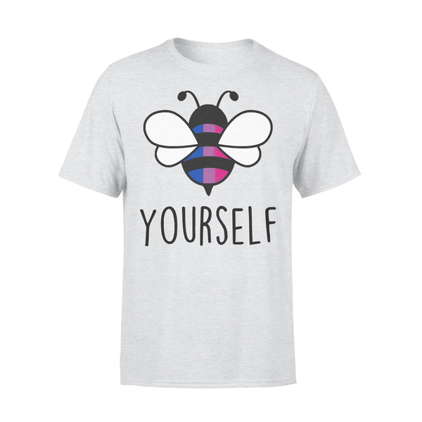 Bee YourSelf Bisexual Bee Gay Pride LGBT Rainbow T-shirt XL By AllezyShirt