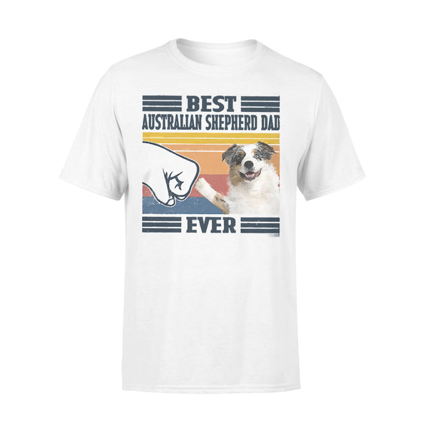 Father's Day Best Australian Shepherd Dad Ever Vintage T-shirt L By AllezyShirt