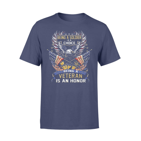 Being A Soldier Is A Choice Being A Veteran Is An Honor Eagle American Flag T-shirt XL By AllezyShirt