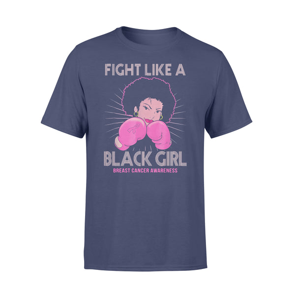 Fight Like A Black Girl Breast Cancer Awareness T-shirt XL By AllezyShirt