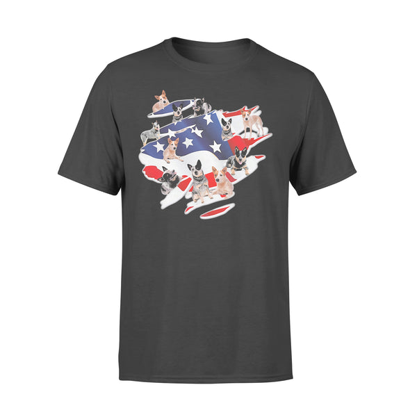 My Country With Many Heeler American Flag Shirt L By AllezyShirt