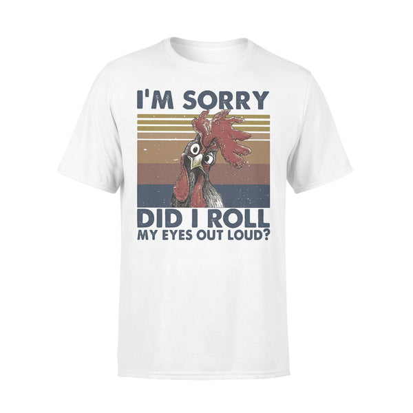 Chicken I'm Sorry Did I Roll My Eyes Out Loud Farmer Vintage T-shirt L By AllezyShirt