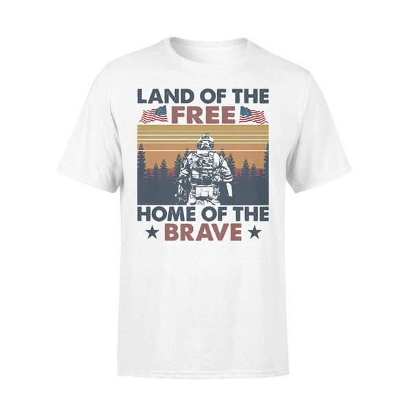 Land Of The Free Home Of The Brave Vintage T-shirt L By AllezyShirt