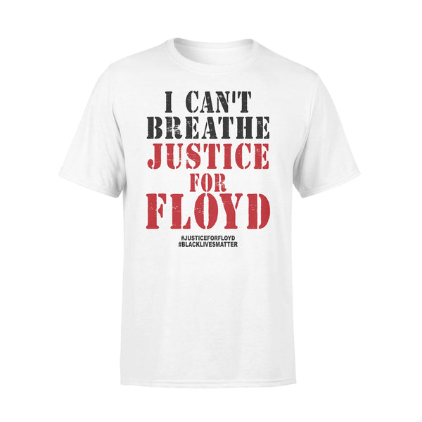 I Cant Breath George Floyd Justice For Floyd Black Lives Matter T-shirt L By AllezyShirt