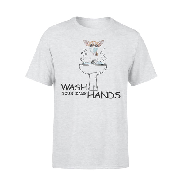 Chihuahua Wash Your Damn Hands Shirt XL By AllezyShirt