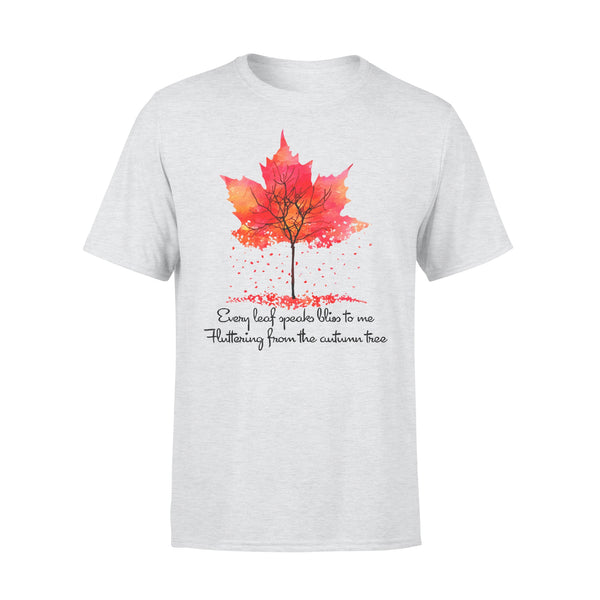 Every Leaf Speaks Bliss To Me Flittering From The Autumn Tree Fall T-shirt XL By AllezyShirt