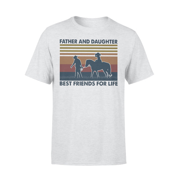 Father And Daughter Best Friends For Life Horse Vintage T-shirt XL By AllezyShirt