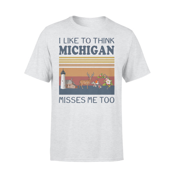 I Like To Think Michigan Misses Me Too Vintage Retro T-shirt M By AllezyShirt