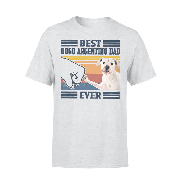 Father's Day Best Dogo Argentino Dad Ever Vintage T-shirt XL By AllezyShirt