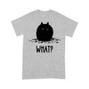 Black Chubby Cat What T-shirt M By AllezyShirt
