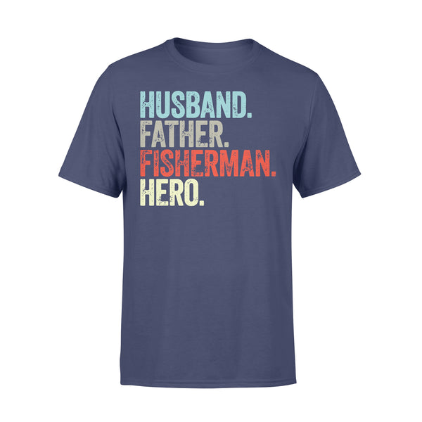 Husband Father Fisherman Hero T-shirt XL By AllezyShirt