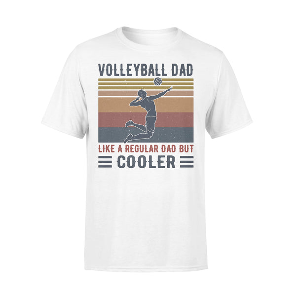 Volleyball Dad Like A Regular Dad But Cooler Vintage Retro T-shirt L By AllezyShirt