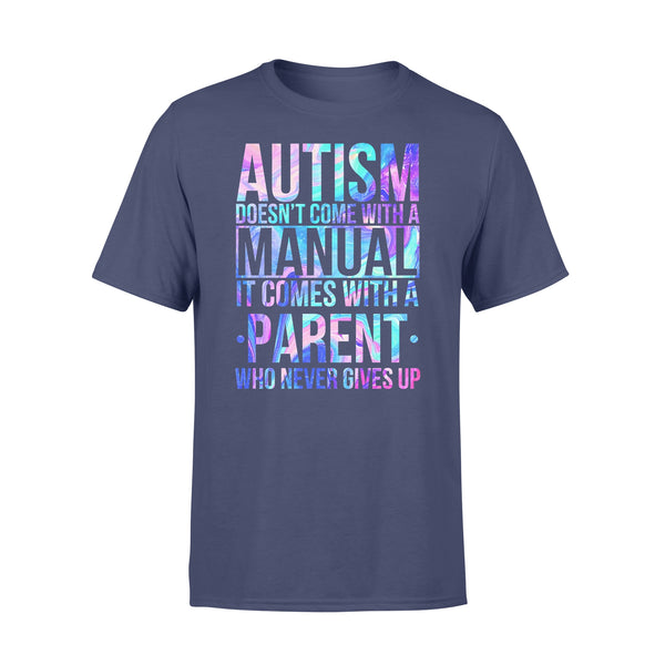 Autism Doesn't Come With A Manual It Comes With A Parent Colorful T-shirt XL By AllezyShirt