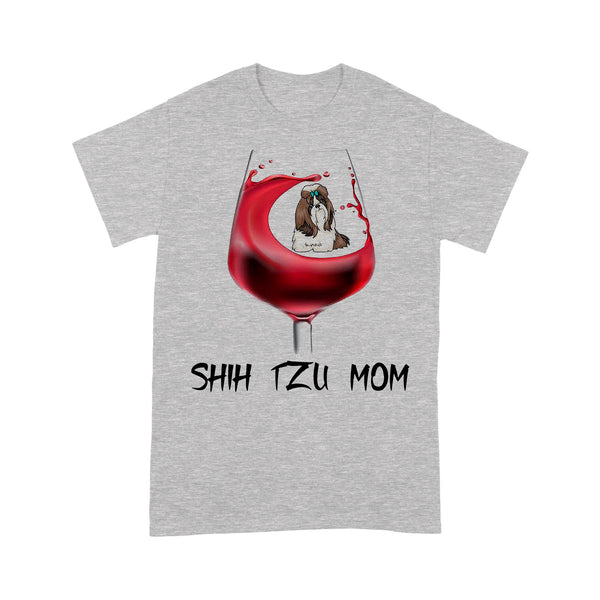 Shih Tzu Mom In Wine T-shirt M By AllezyShirt