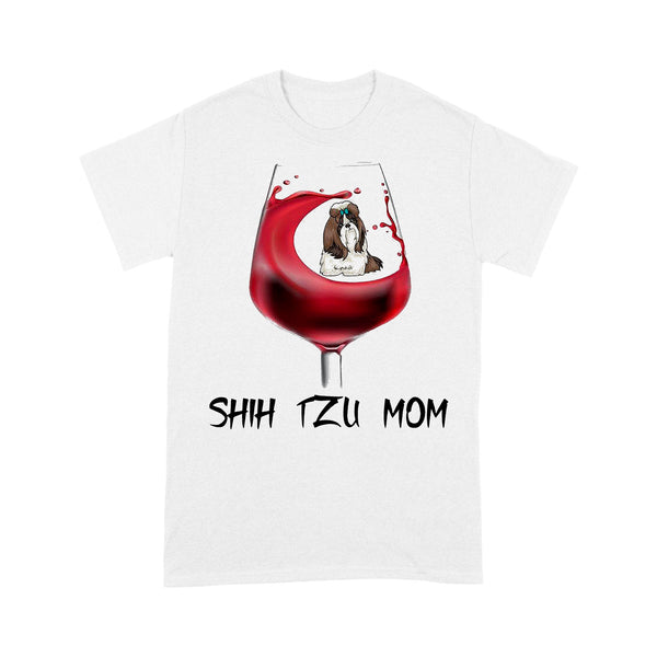Shih Tzu Mom In Wine T-shirt S By AllezyShirt