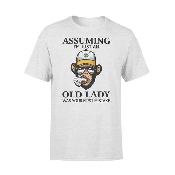 Monkey Assuming I'm Just An Old Lady Was Your First Mistake Shirt XL By AllezyShirt