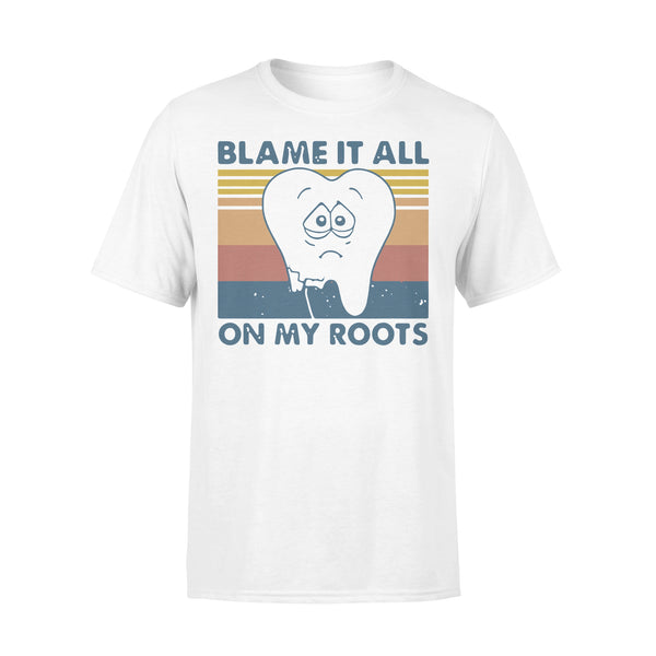 Tooth Blame It All On My Roots Vintage Retro T-shirt L By AllezyShirt