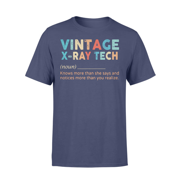Vintage X-Ray Tech Noun Knows More Than He Says And Notices More Than You Realize T-shirt XL By AllezyShirt