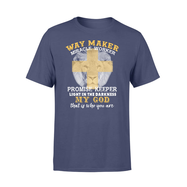 Lion Way Maker Miracle Worker Promise Keeper My God Shirt XL By AllezyShirt
