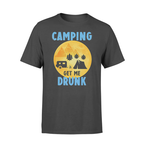 Camping Get Me Drunk Funny Camper T-shirt L By AllezyShirt