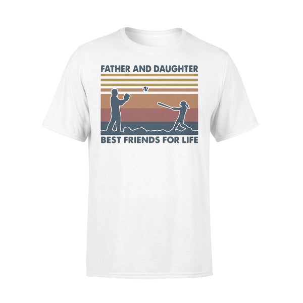 Baseball Father And Daughter Best Friends For Life Vintage T-shirt L By AllezyShirt