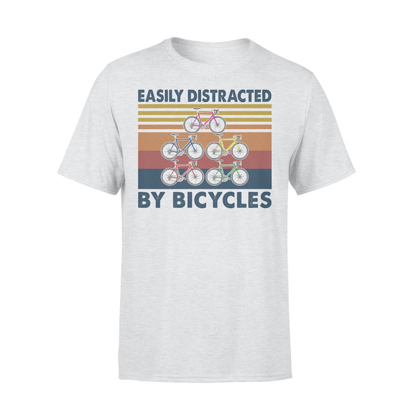 Easily Distracted By Bicycles Vintage Retro T-shirt XL By AllezyShirt