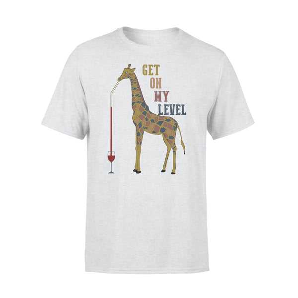Giraffe Drink Wine Get On My Level T-shirt XL By AllezyShirt