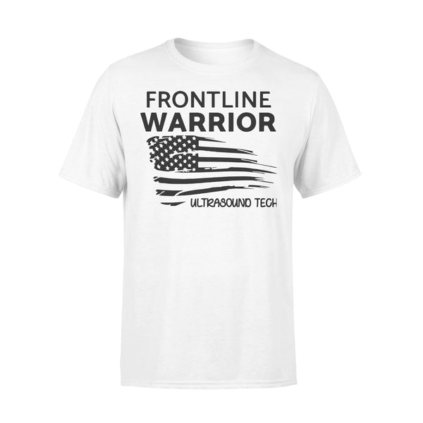 Independence Day Frontline Warrior Ultrasound Tech T-shirt L By AllezyShirt