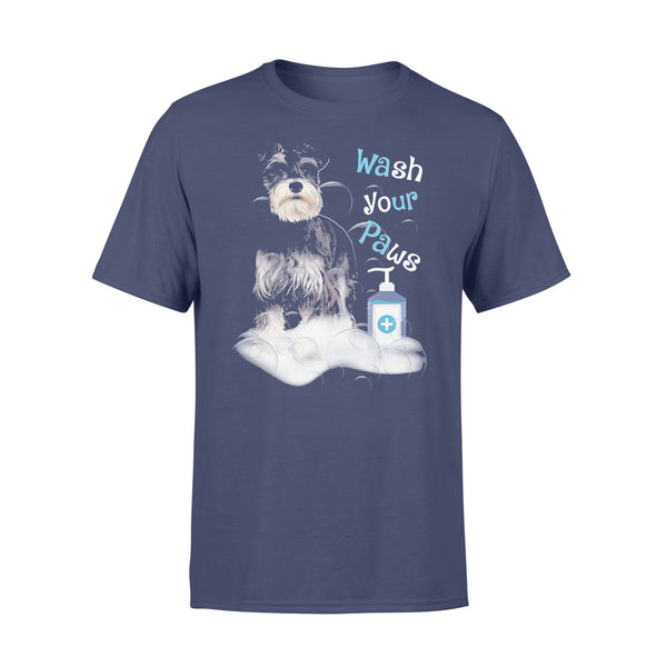 Schnauzer Dog Wash Your Paws Covid-19 T-shirt XL By AllezyShirt
