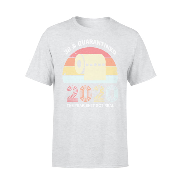 Quarantine Birthday 2020 Toilet Paper Vintages T-shirt XL By AllezyShirt